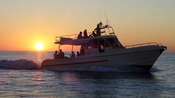 Perla del Mare al tramonto